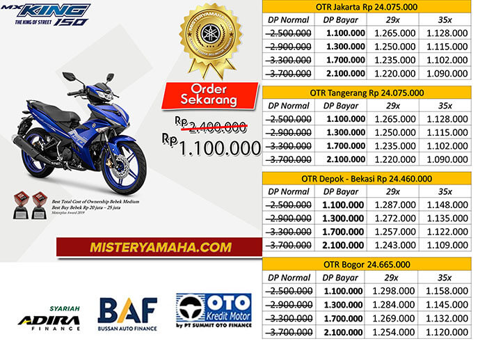 Harga Kredit Motor Yamaha MX King 150 DP Murah